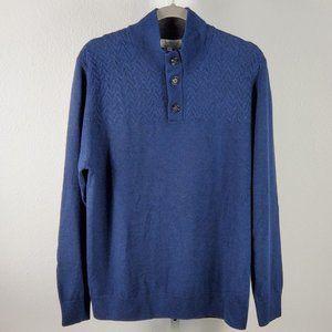 TURNBURY extra fine merino wool pullover blue Sz L